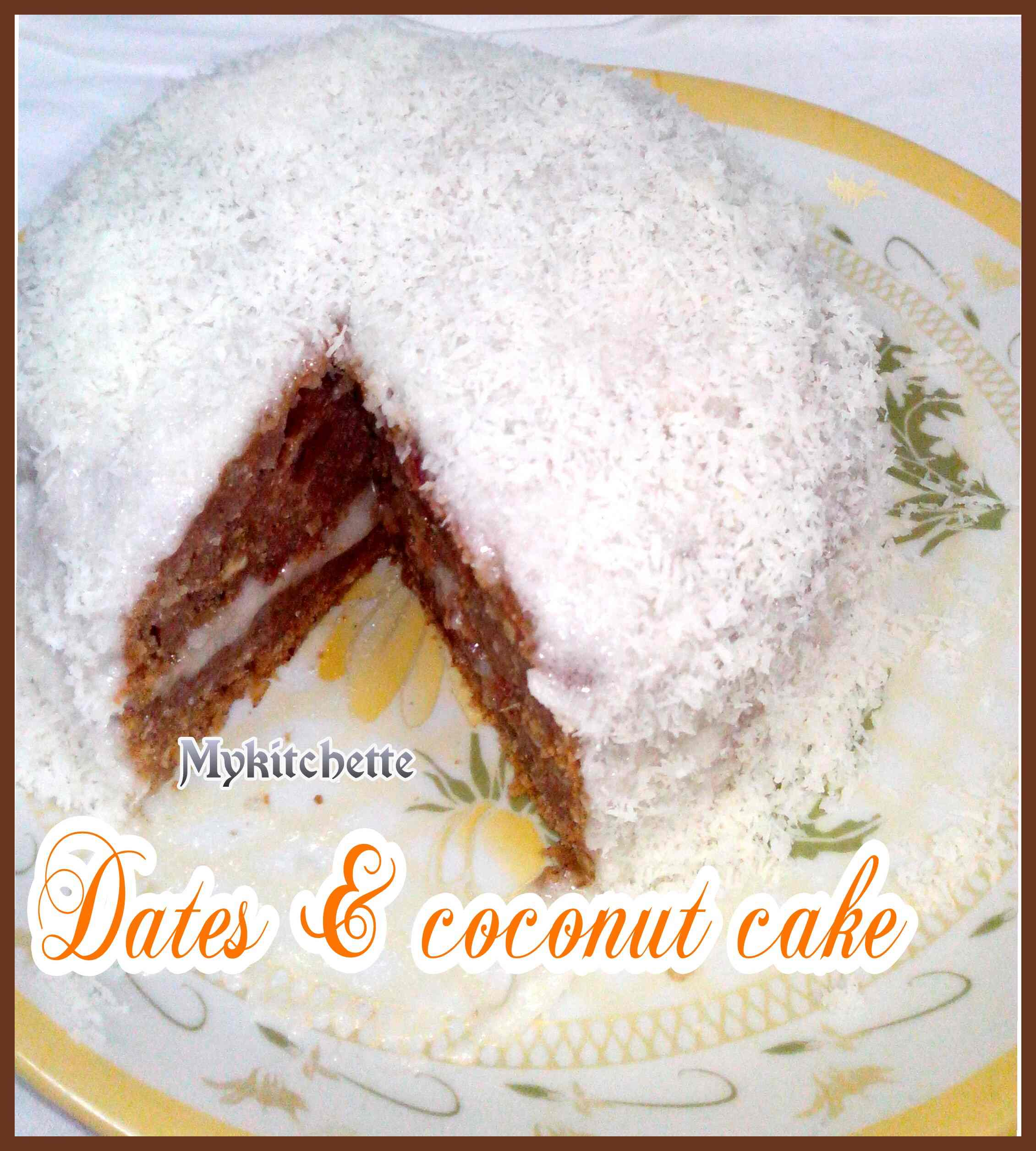 Date And Coconut Cake My Kitchette