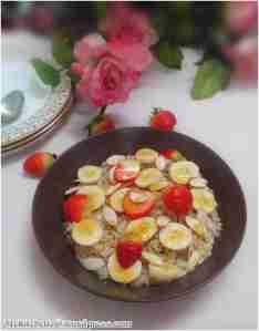 brwon rice porridge