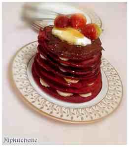 oats beet pancakes