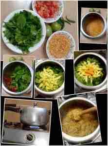making panchamel dal