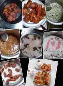 making tandoori chiken biryani