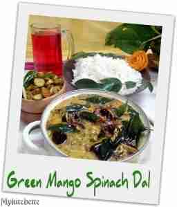 panchamel spinach dal