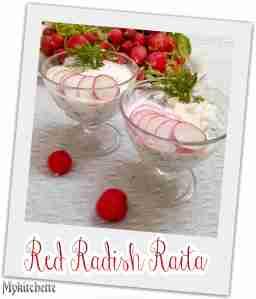 red radish raita