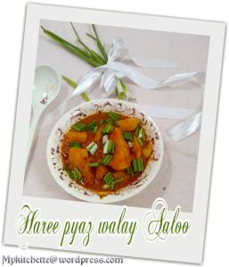 spring onion-potato curry