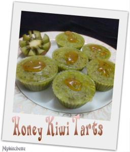 honey kiwi tarts