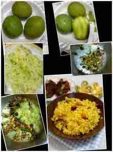 making mango rice
