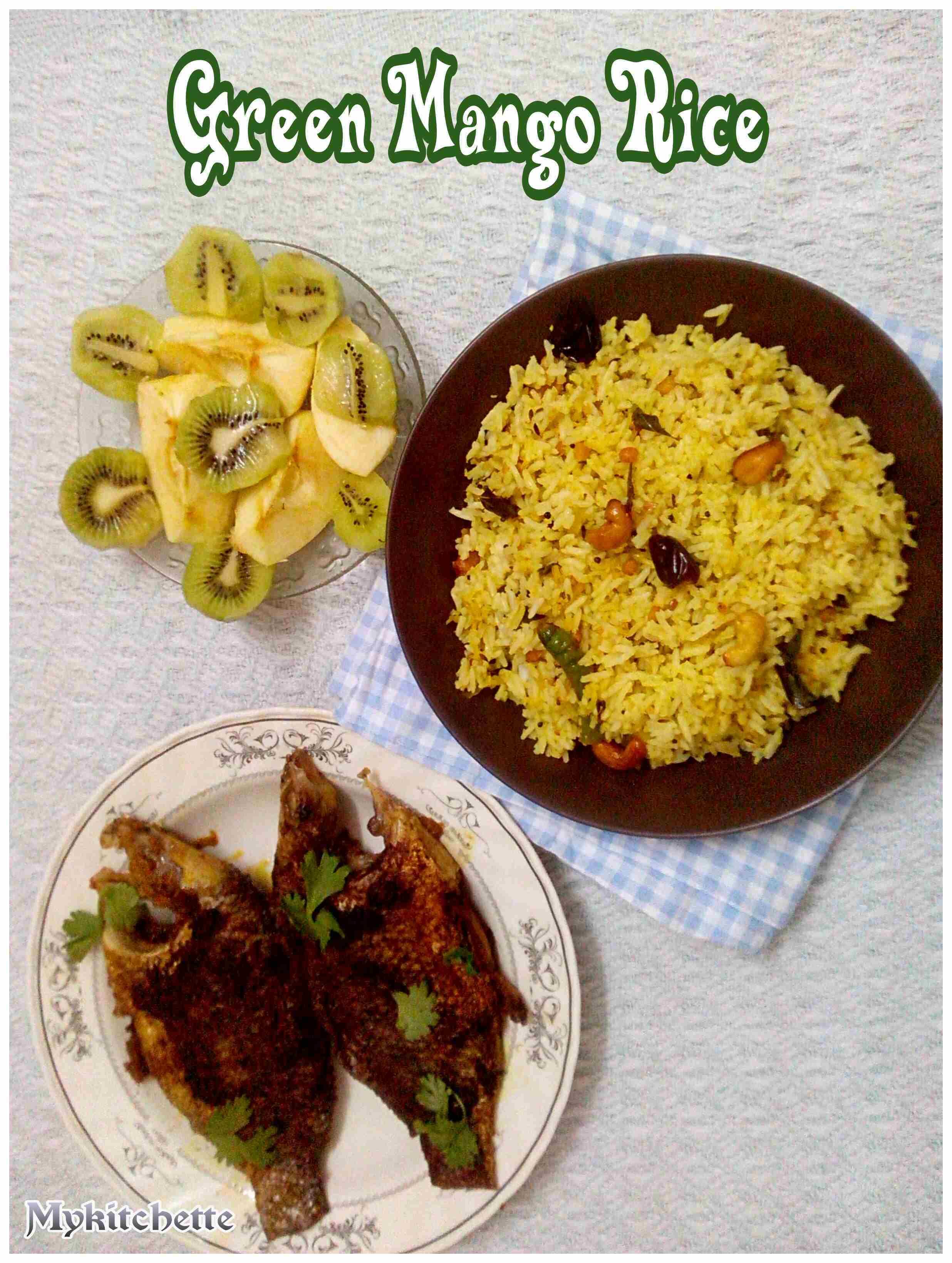 GREEN MANGO RICE AND CHUTNEY | MY KITCHETTE